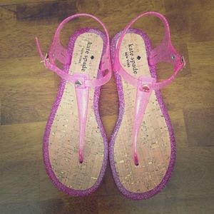 Shoes - Pink glitter sandals for women ( Kate Spade)